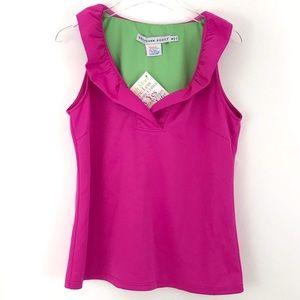 4a9681ab9d3 Gretchen Scott Designs Tops - Gretchen Scott Ruff Neck Sleeveless Jersey Top